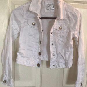Girls white Jean jacket